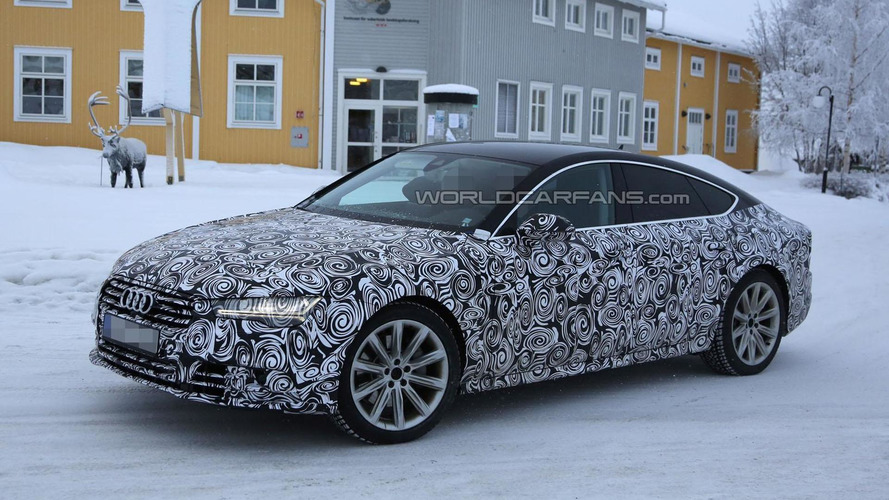 Audi A7 facelift spied showing new details