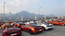McLaren MP4-12C Parade event in Hong Kong 27.10.2013