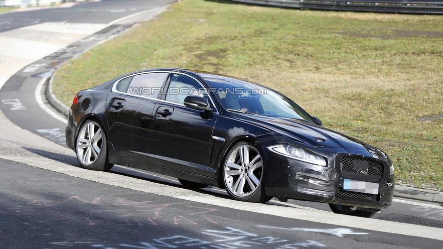 2016 Jaguar XF mule spied on the Nordschleife