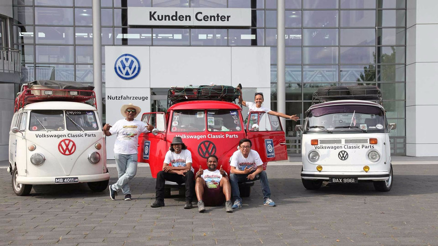 VW Bus Convoy Road Trips 12,500 Miles from Malaysia To Germany