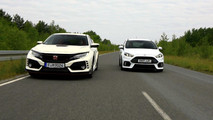 Honda Civic Type Versus Ford Focus RS
