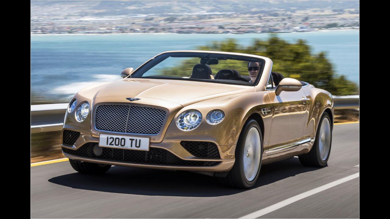 Platz 7: Bentley Continental GT Cabrio