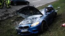 BMW M5 crash in Germany 20.4.2012