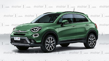 Fiat 500X restyling, il rendering