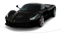LaFerrari in Nero black, color configurator screenshot 800