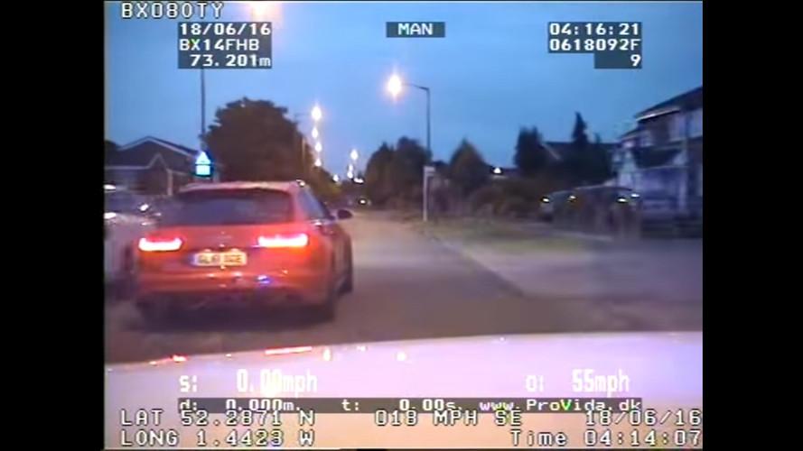 Bir Audi RS6 Avant polisten kaçarsa ne olur?