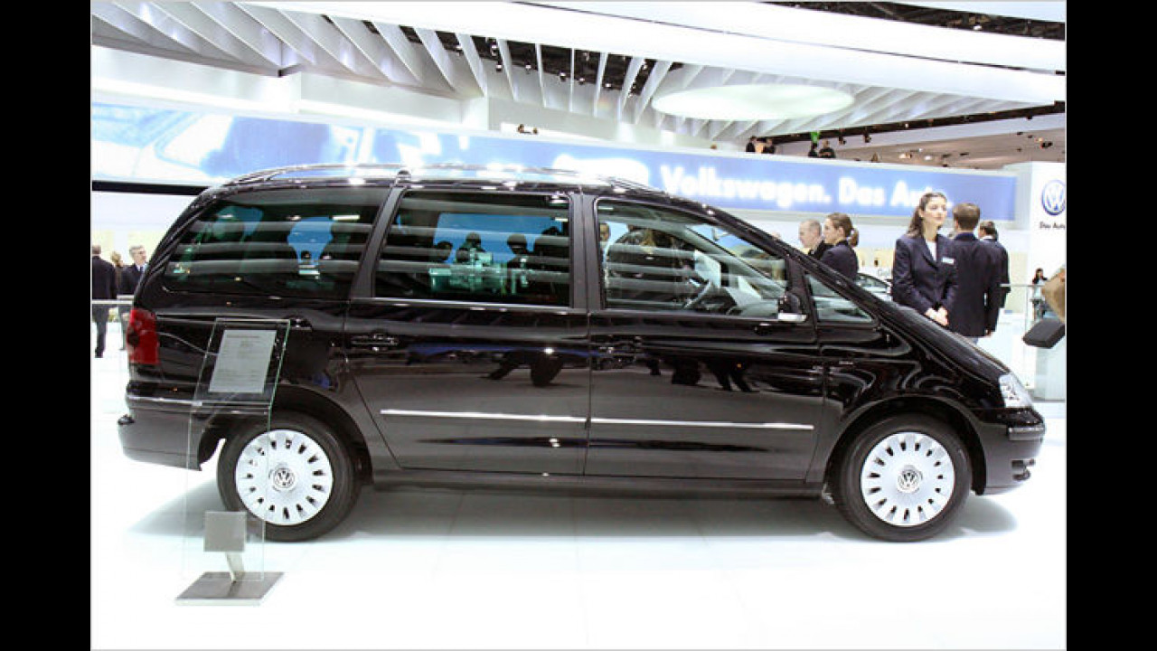 Besonders umwelt- und familienfreundlich soll der VW Sharan BlueMotion sein