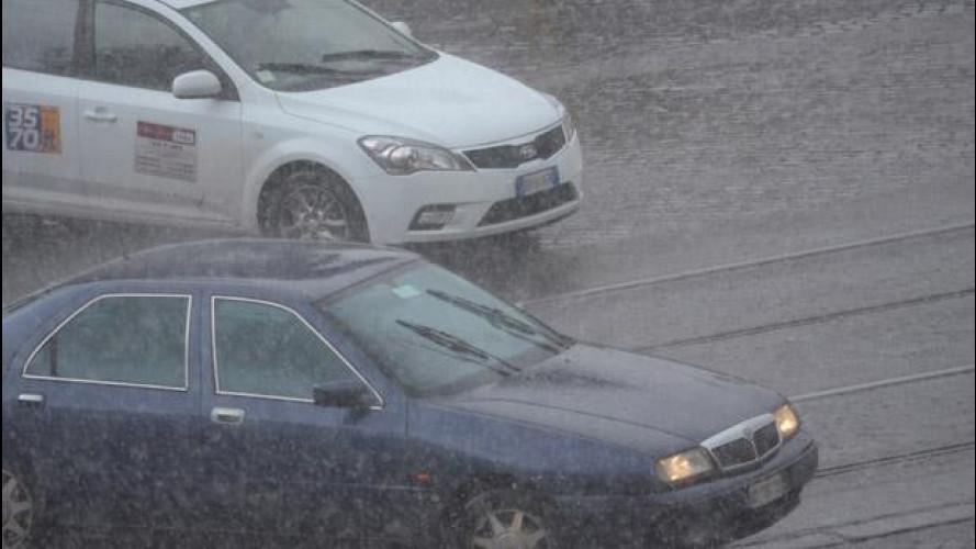 Maltempo: è arrivato il ciclone Medusa, la situazione sulle strade