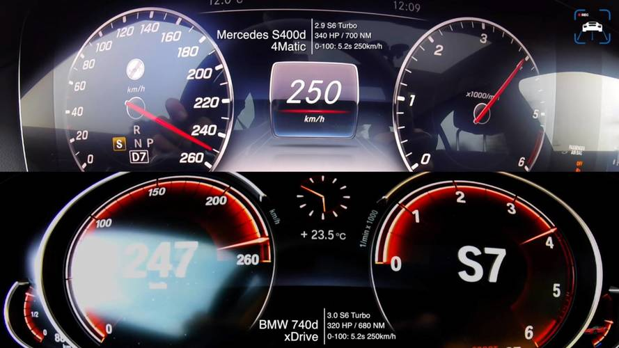 Which Diesel Luxobarge Is Quicker To 155 MPH: S400d Or 740d?