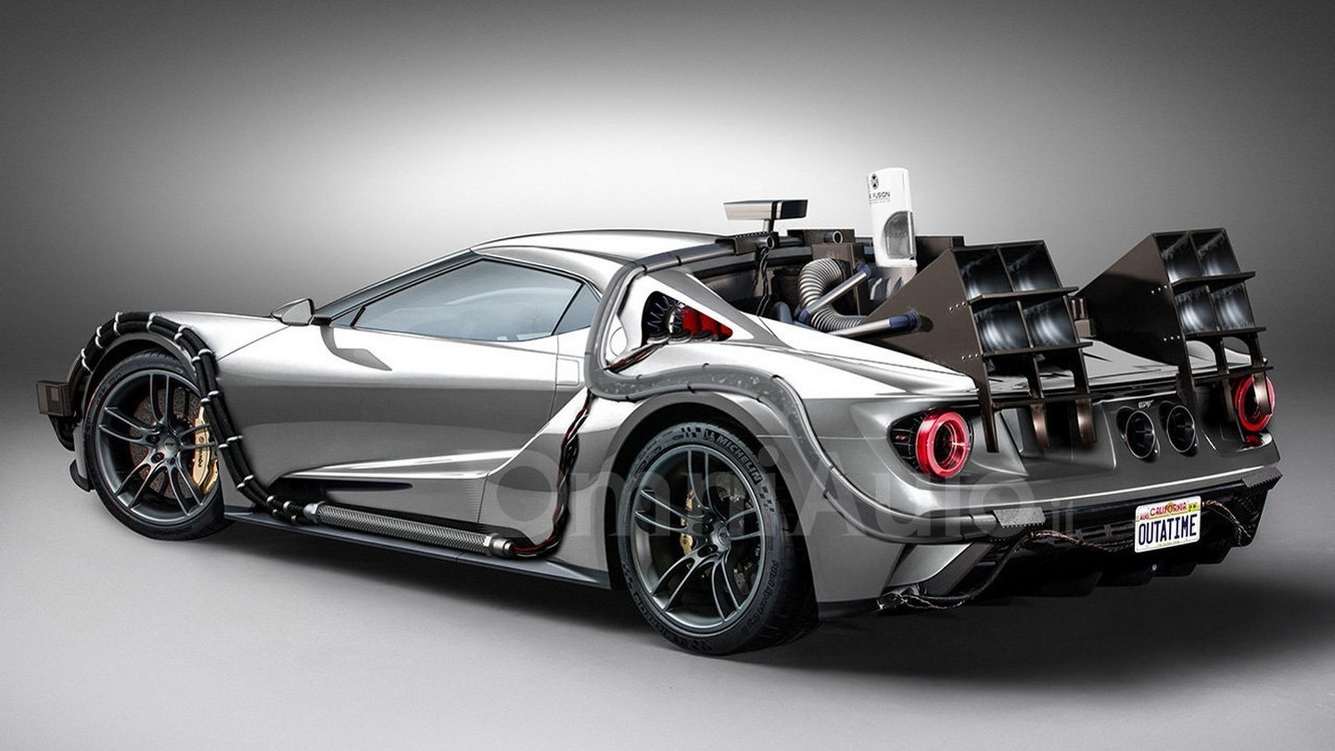 Ford Gt Concept Imagined As Time Machine From Back To The