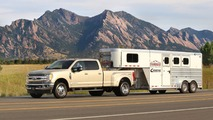 2017 Ford Super Duty with trailer