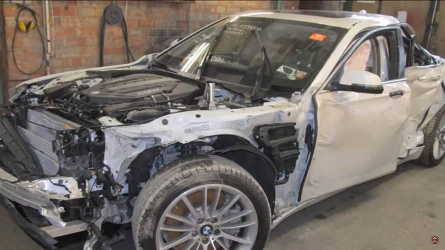 27 nap munkával hoztak vissza egy 7-es BMW-t a pokolból