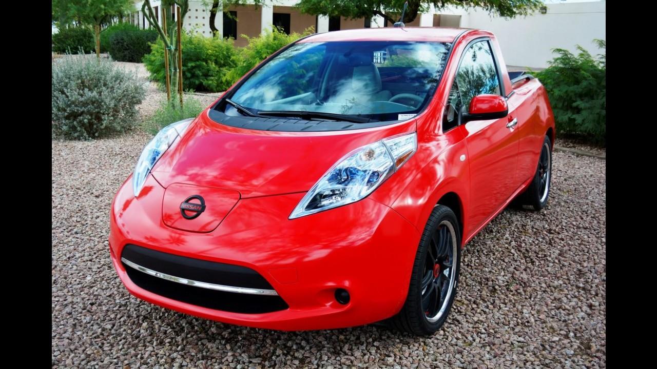 Nissan Leaf ganha caçamba de Frontier e vira picape Sparky nos EUA