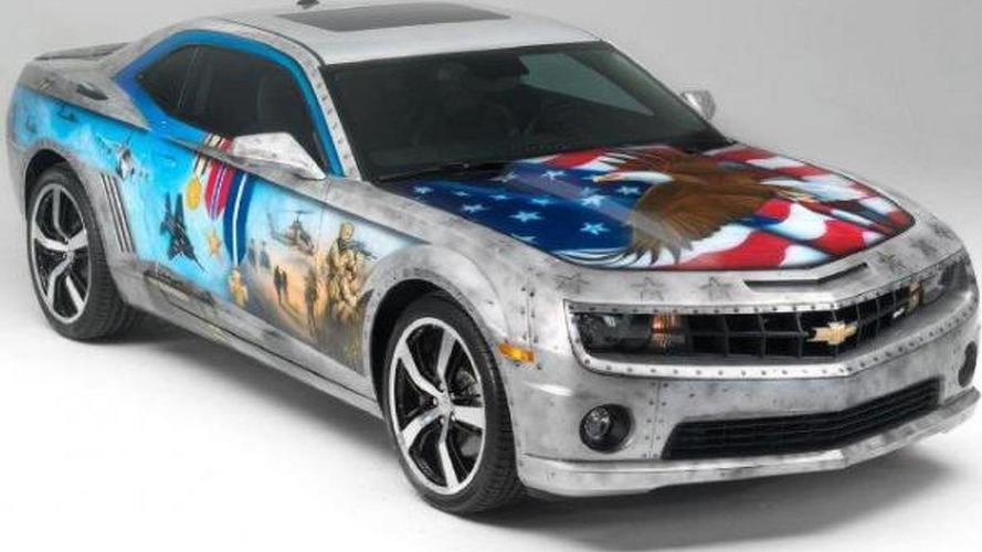 Chevy donates patriotic Camaro for Army-Navy game