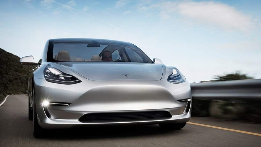 New Tesla Model 3 images