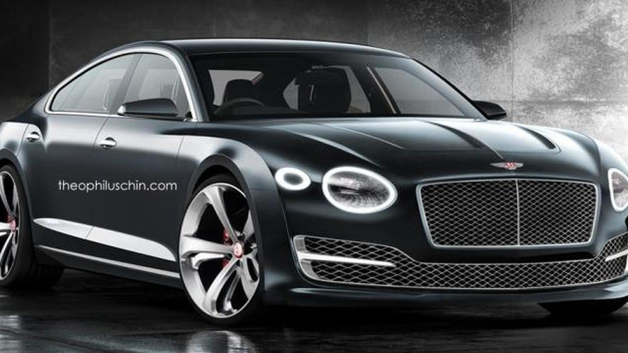 Bentley four-door coupe rendered based on EXP 10 Speed 6 concept