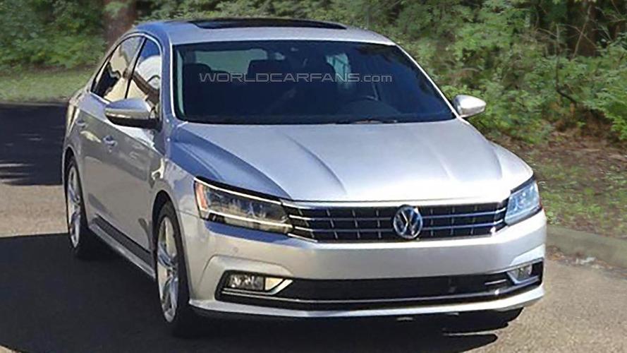 2016 Volkswagen Passat US-spec facelift spied undisguised during photo shoot