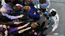 Lewis Hamilton, Mercedes AMG F1 Team with the media