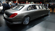 Mercedes Maybach S600 Pullman live at 2015 Geneva Motor Show