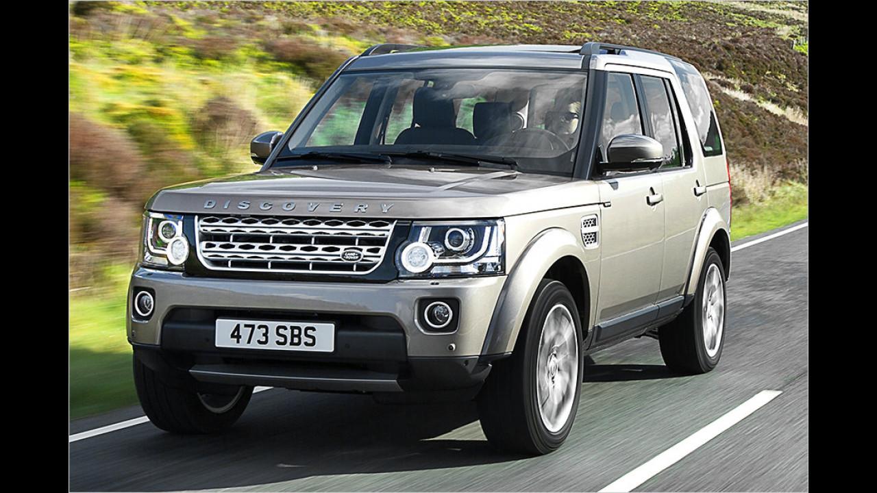 SUVs und Geländewagen: Land Rover Discovery als stärkster Verlierer