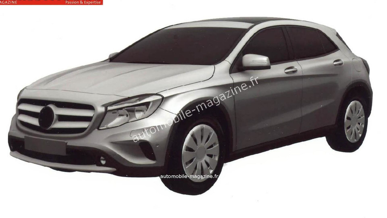 Mercedes-Benz GLA 180 CDI leaked patent photo 12.11.2013