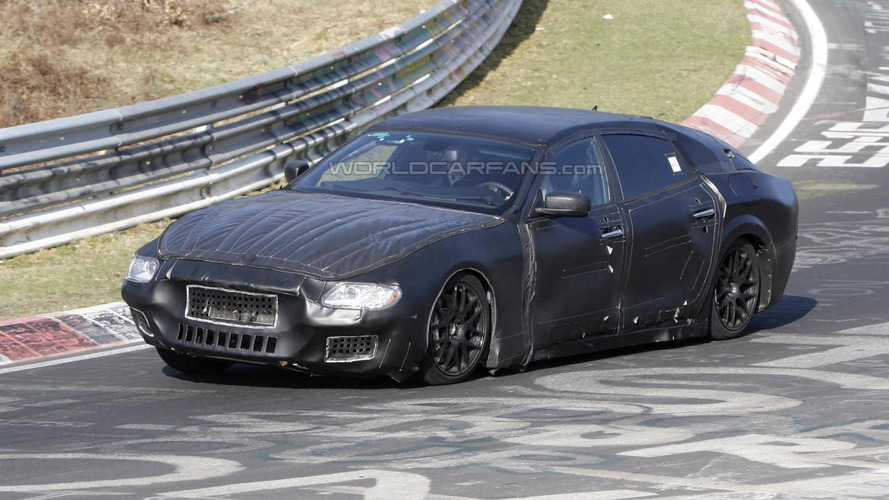 2014 Maserati Quattroporte caught on Nurburgring for first time
