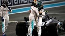 Lewis Hamilton, Mercedes-Benz F1 W08  congratulates and celebrates in parc ferme with Felipe Massa, Williams and race winner Valtteri Bottas, Mercedes AMG F1