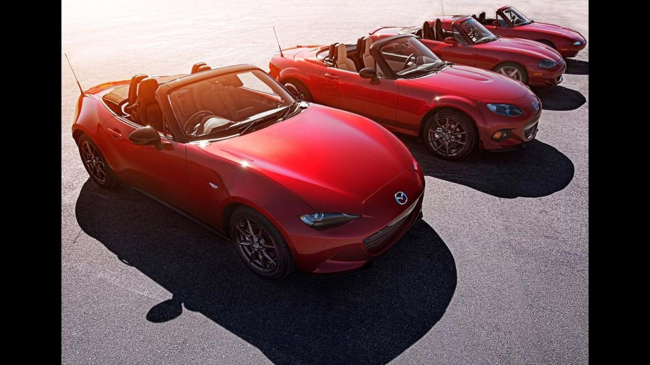 """Na balança: Mazda prova que MX-5 Miata é um carro """"equilibrado"""""""