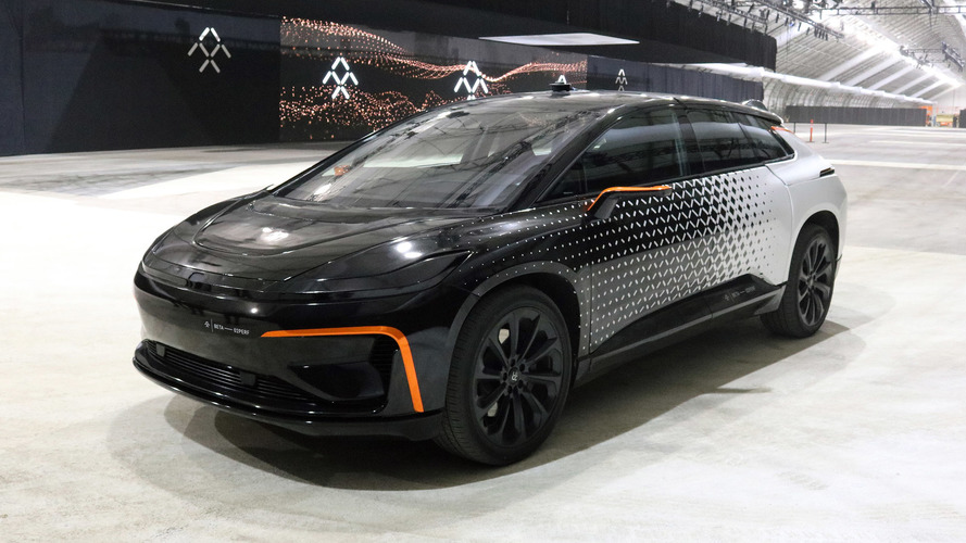 Faraday Future FF 91 prototipi denemesi