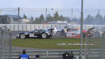 Mercedes SLS GT3 AMG Crashes during Racing Debut [video]