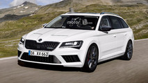 Skoda Superb RS Hatchback and Combi renders
