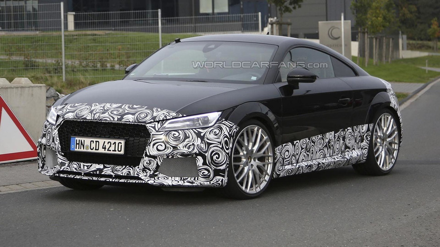 2016 Audi TT-RS Coupe spied with an aggressive front fascia