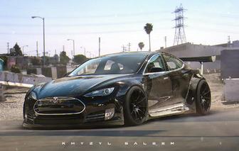 This Custom Tesla Model S Liberty Walk Needs to Happen