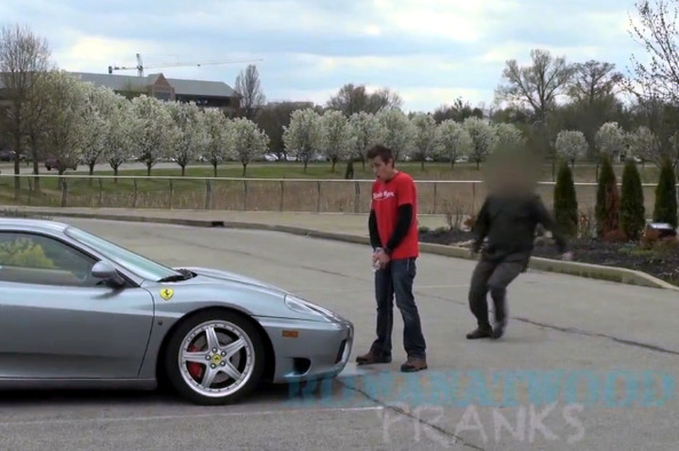 Video: Prankster Gives Ferrari Owner a Scare