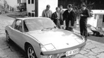 Ferry Porsche with his VW-Porsche 914-8 (1969)