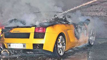 Lamborghini Gallardo burned
