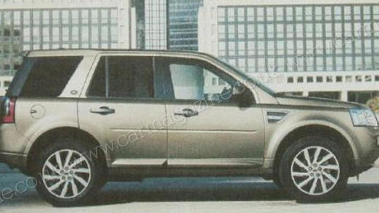 2011 Land Rover Freelander / LR2 facelift leaked brochure image