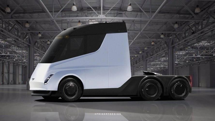 Tesla Semi'ye casus fotoğrafları temelli tasarım yorumu