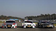BMW M Performance Accessories M3 DTM, Audi A5 DTM, Mercedes-Benz C-Class DTM cars for 2012 DTM season presentation, Hockenheim Ring, 23.10.2011