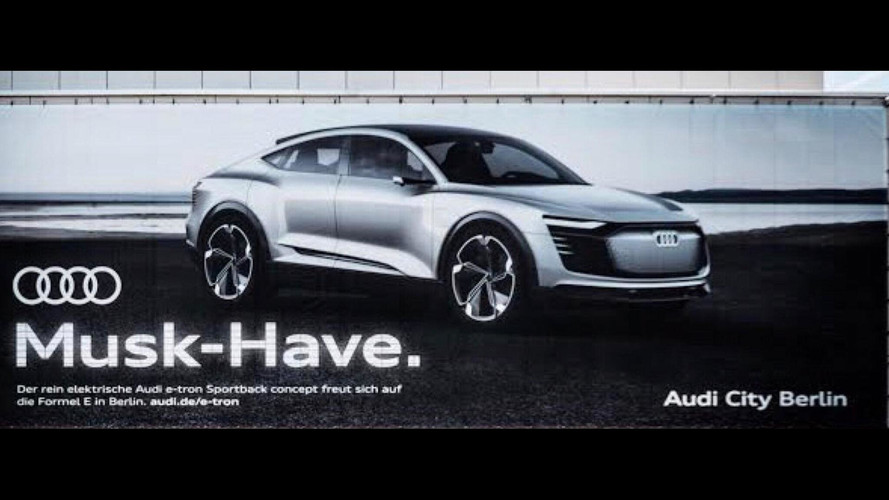 Audi E-Tron Sportback Concept Ad Takes Jab At Tesla's Elon Musk