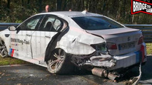 BMW M5 Ring Taxi accident at Nurburgring 28.10.2013