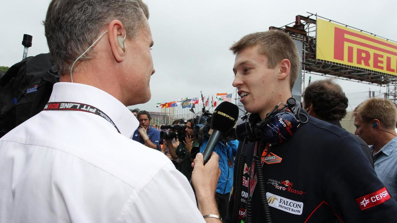 David Coulthard with Daniil Kvyat 24.11.2013 Brazilian Grand Prix