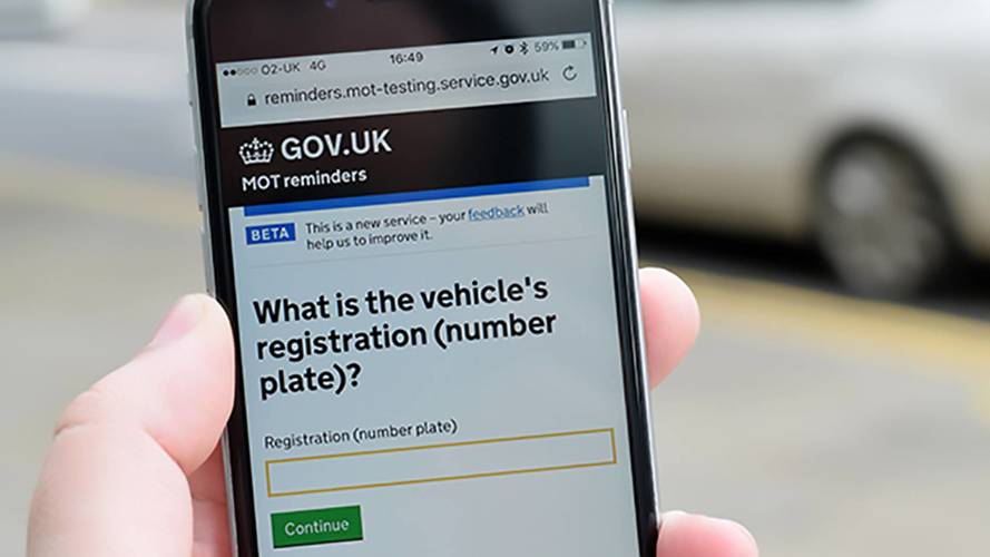 Government introducing new MOT reminder service