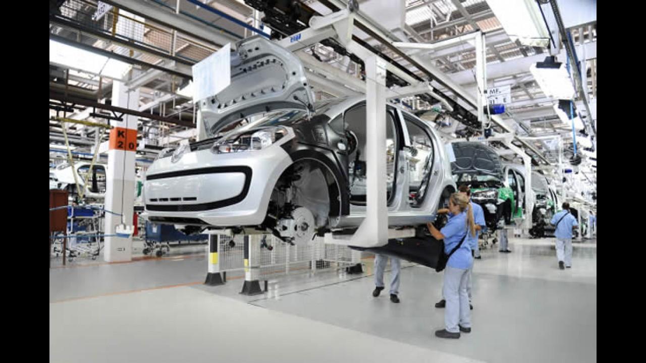 Volkswagen up! chega a 100 mil unidades produzidas no Brasil