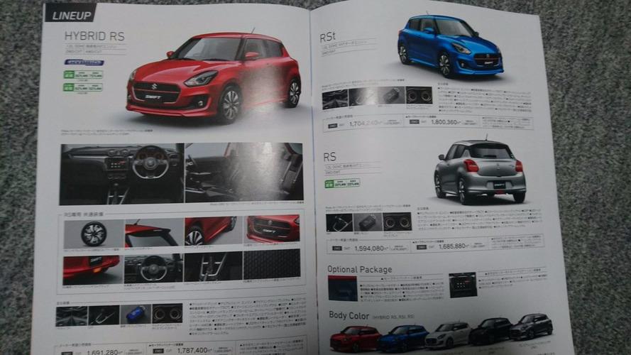 2017 Suzuki Swift'in broşürü de sızdırıldı