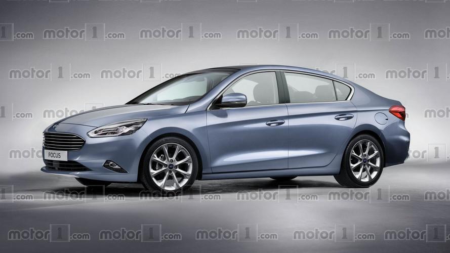 2018 Ford Focus Sedan render daha premium görünüyor
