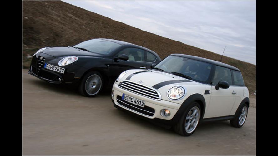 Klein und trotzdem fein: Alfa MiTo und Mini im Dieselduell