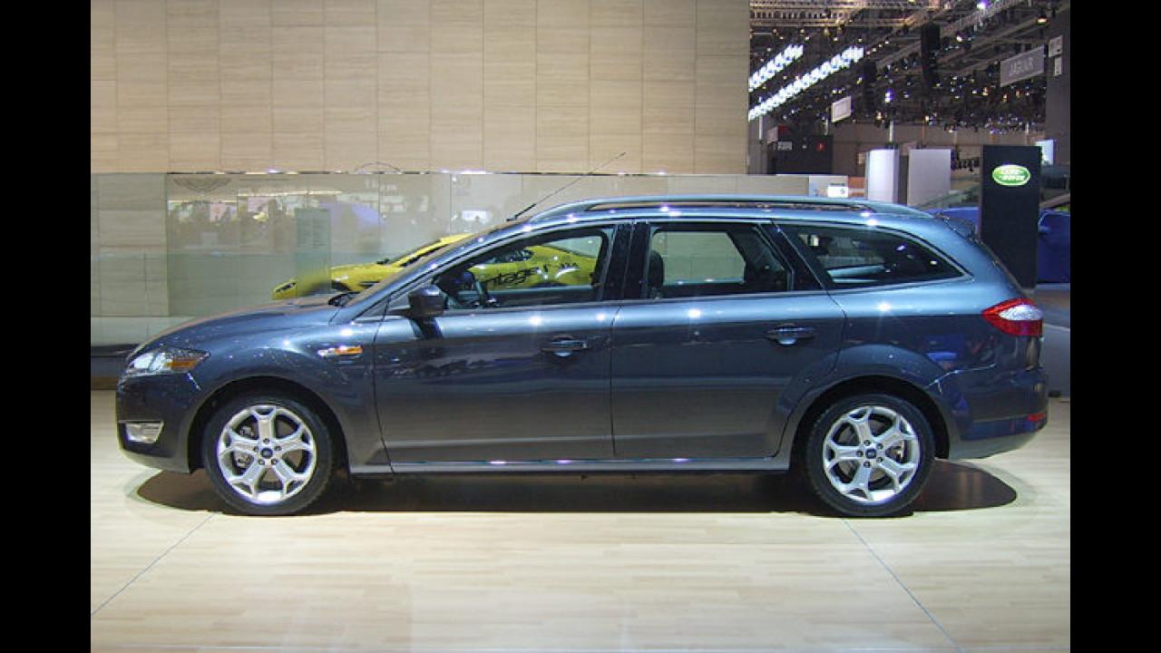 Der Ford Mondeo debütierte im März 2007 und bietet als Touring stolze 1.745 Liter Stauvolumen