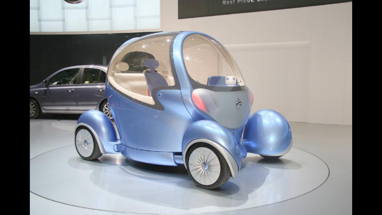 Erstmals in Europa zu sehen: Die knuffige Citycar-Studie Pivo II von Nissan