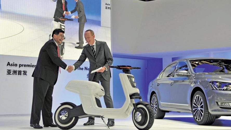 Volkswagen E-Scooter shown off in Shanghai